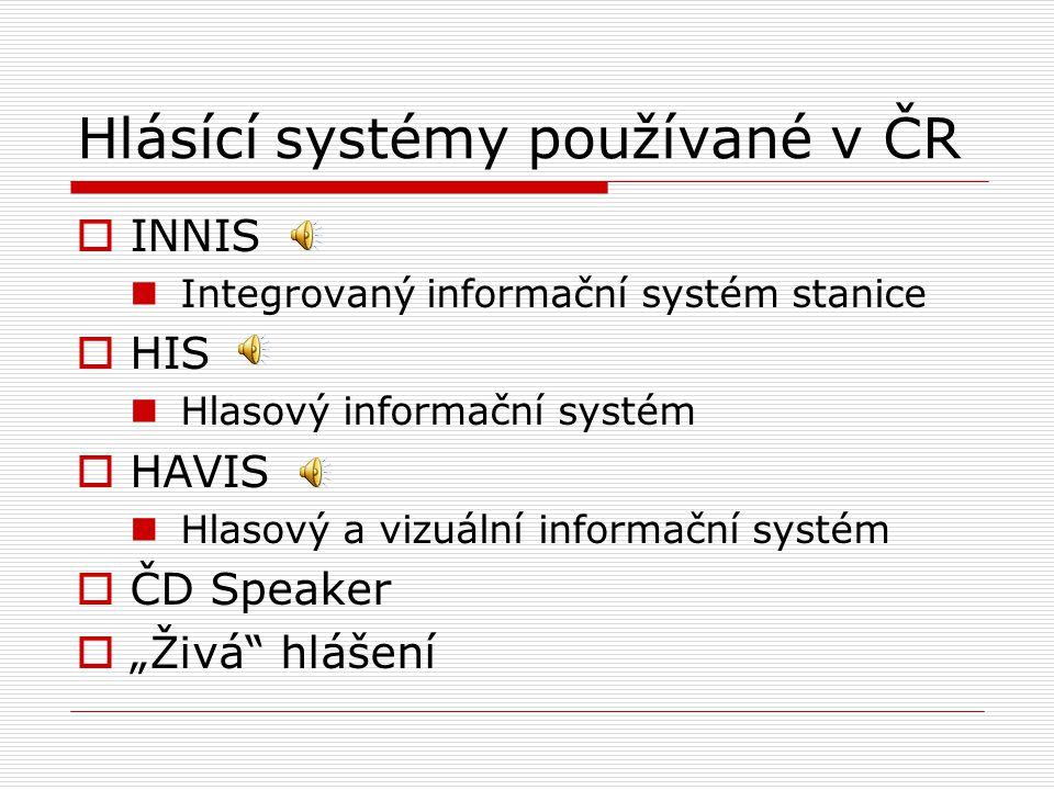 Hlásící systémy používané v ČR