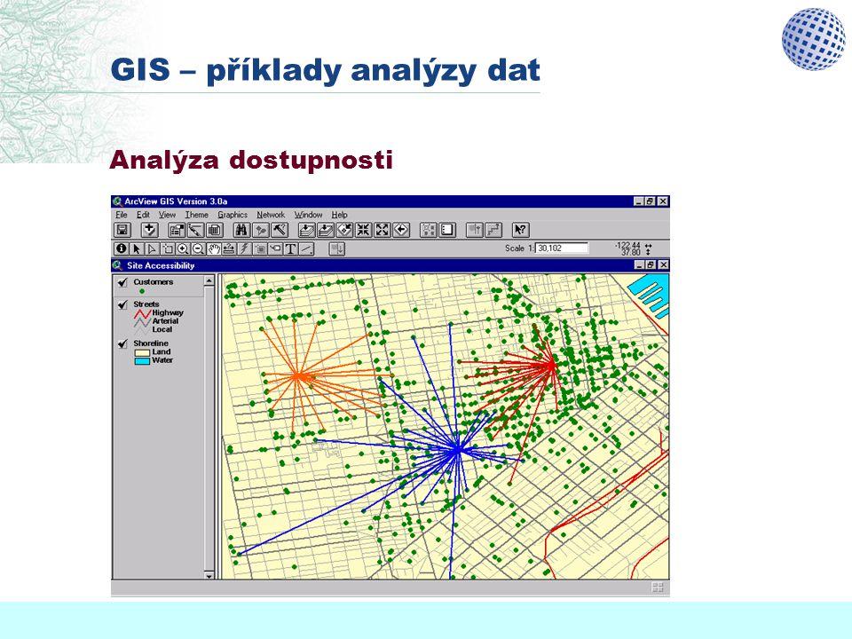 GIS – příklady analýzy dat