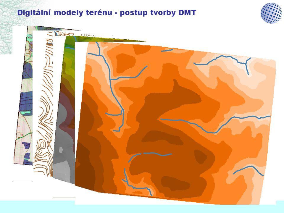 Digitální modely terénu - postup tvorby DMT