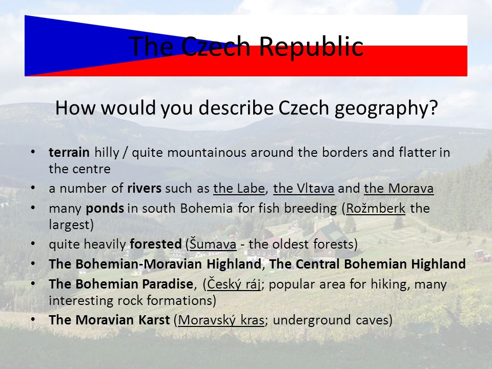 How would you describe Czech geography