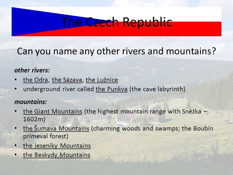 Can you name any other rivers and mountains