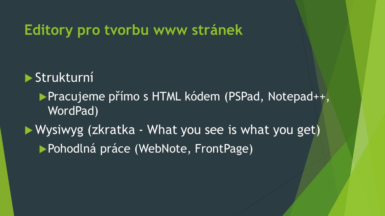 Editory pro tvorbu www stránek