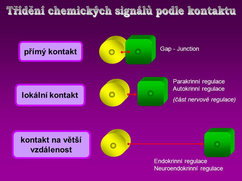 Třídění chemických signálů podle kontaktu