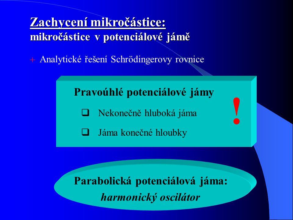 ! Zachycení mikročástice: mikročástice v potenciálové jámě