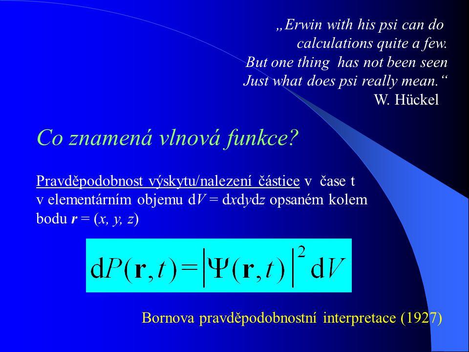 Co znamená vlnová funkce