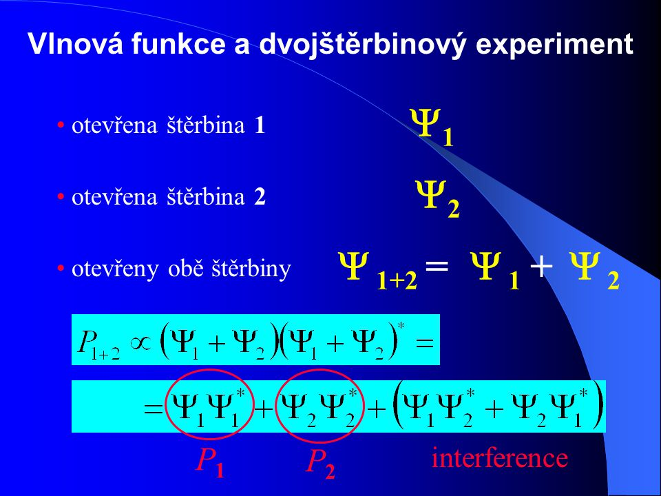 Vlnová funkce a dvojštěrbinový experiment