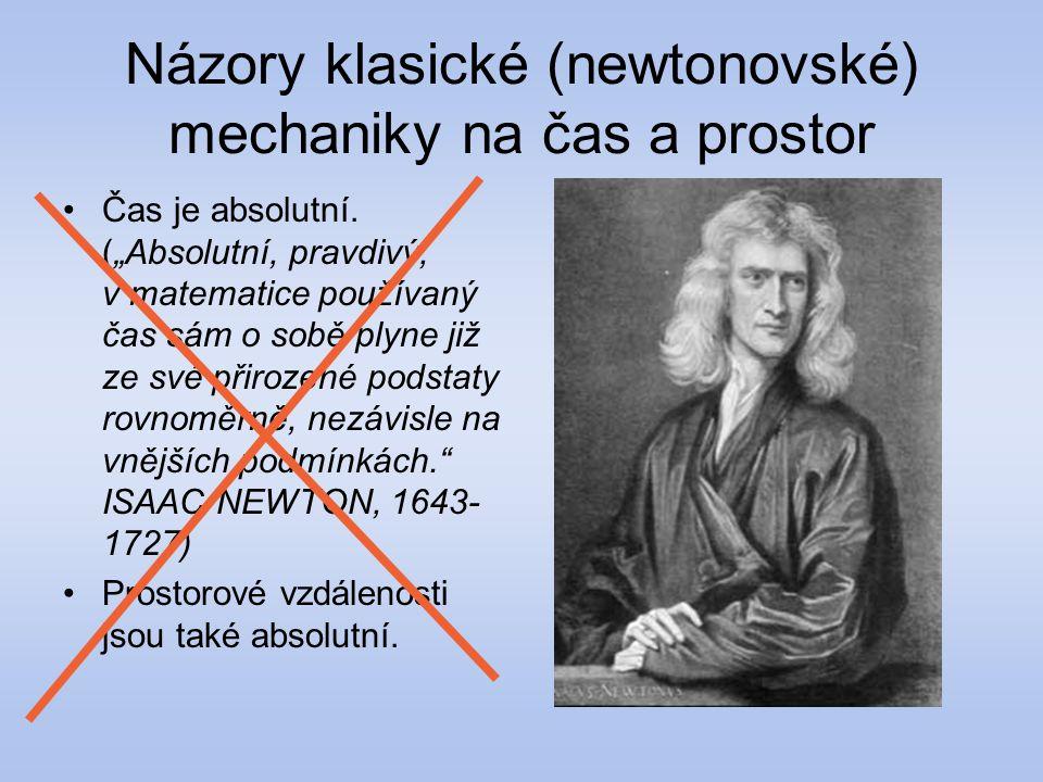 Názory klasické (newtonovské) mechaniky na čas a prostor