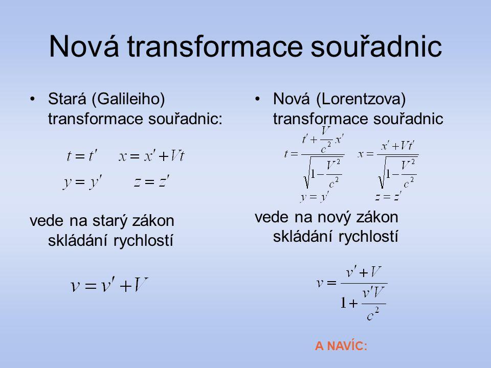 Nová transformace souřadnic