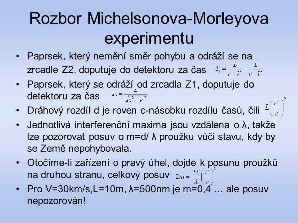 Rozbor Michelsonova-Morleyova experimentu