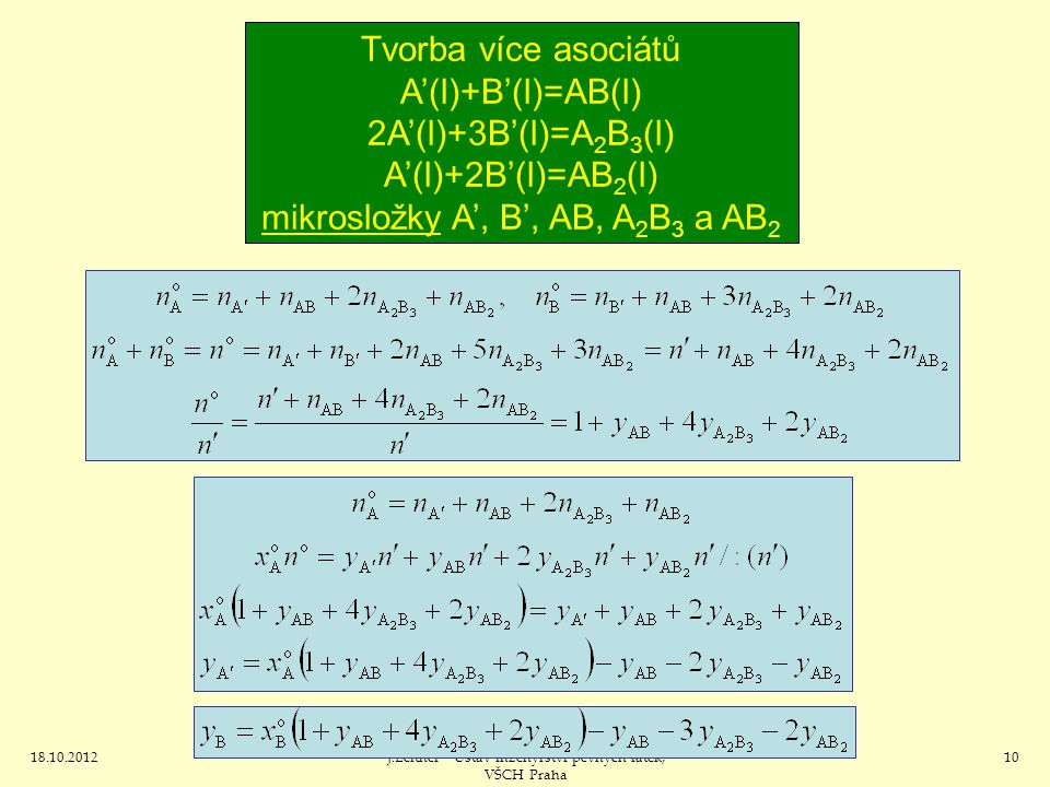 mikrosložky A', B', AB, A2B3 a AB2