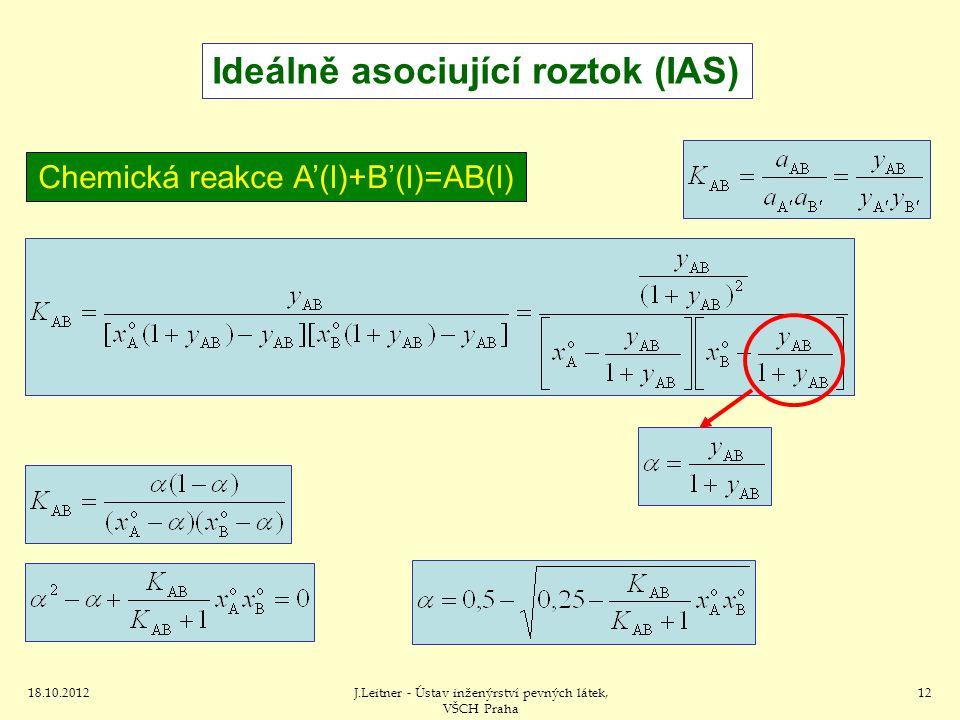 Ideálně asociující roztok (IAS)