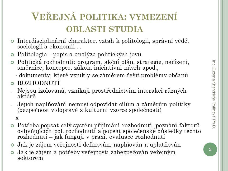 Veřejná politika: vymezení oblasti studia