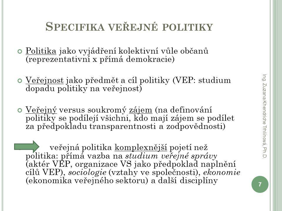 Specifika veřejné politiky