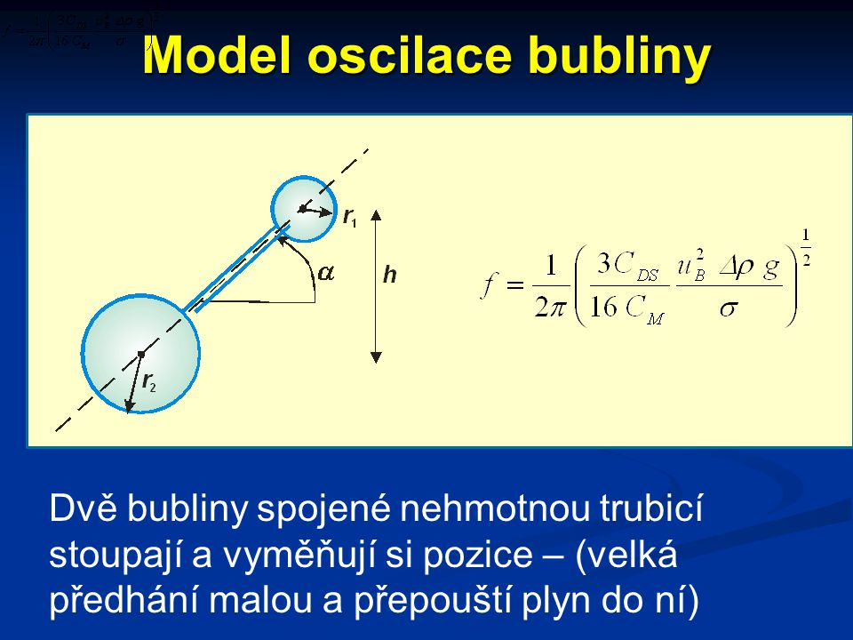 Model oscilace bubliny