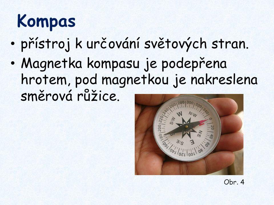 Kompas přístroj k určování světových stran.