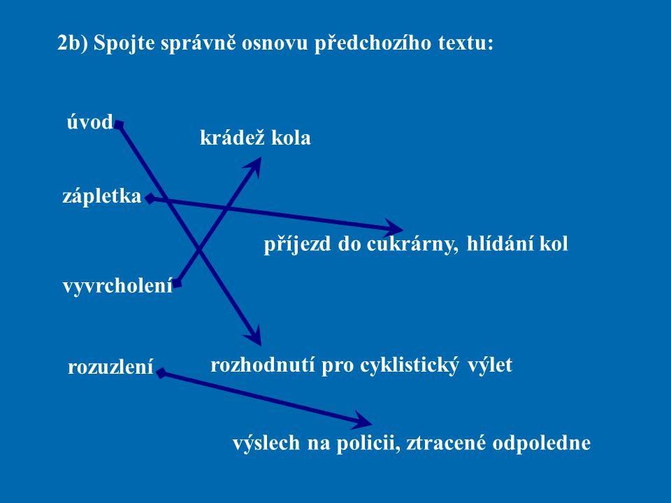 2b) Spojte správně osnovu předchozího textu: