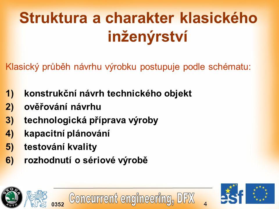 Struktura a charakter klasického inženýrství
