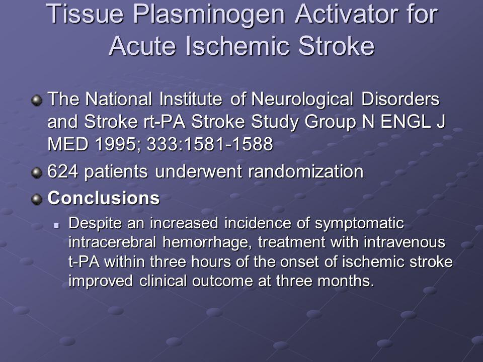 Tissue Plasminogen Activator for Acute Ischemic Stroke
