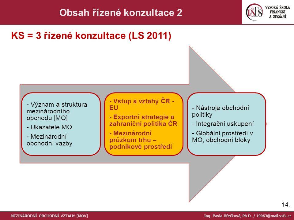 Obsah řízené konzultace 2