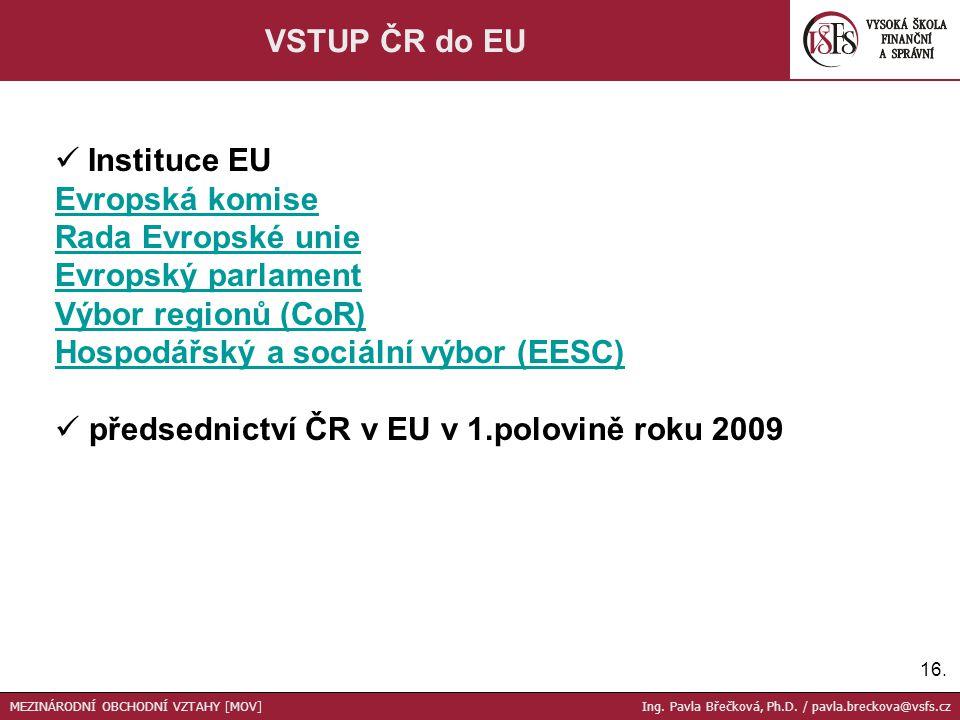 předsednictví ČR v EU v 1.polovině roku 2009
