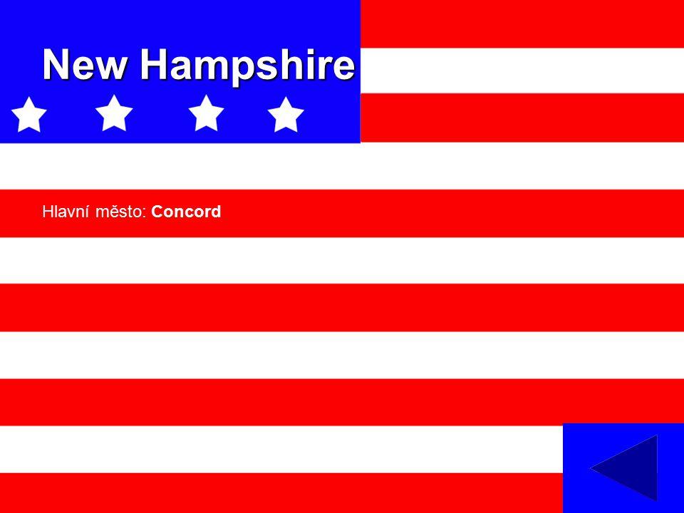 New Hampshire Hlavní město: Concord