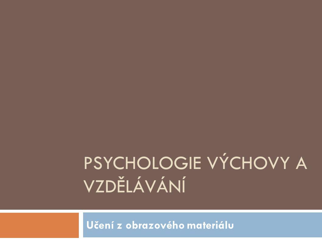 PSYCHOLOGIE VÝCHOVY A VZDĚLÁVÁNÍ