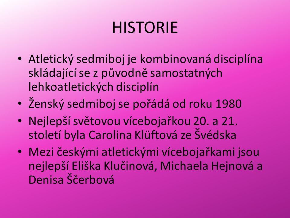 HISTORIE Atletický sedmiboj je kombinovaná disciplína skládající se z původně samostatných lehkoatletických disciplín.