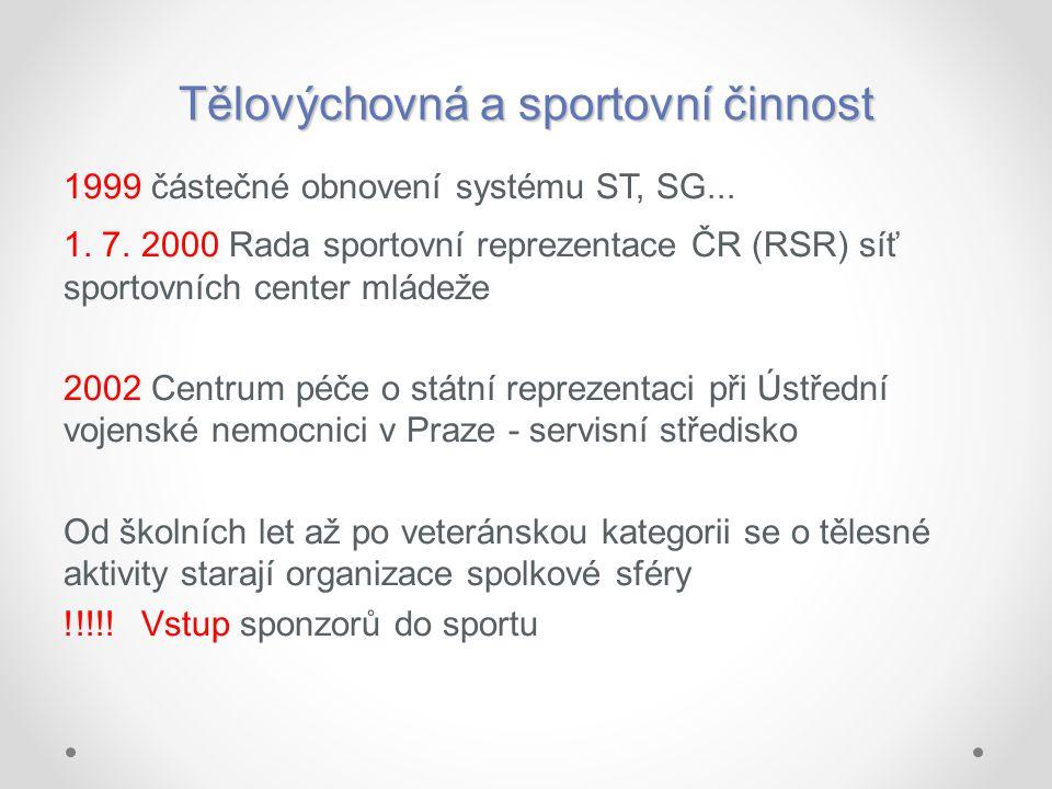 Tělovýchovná a sportovní činnost