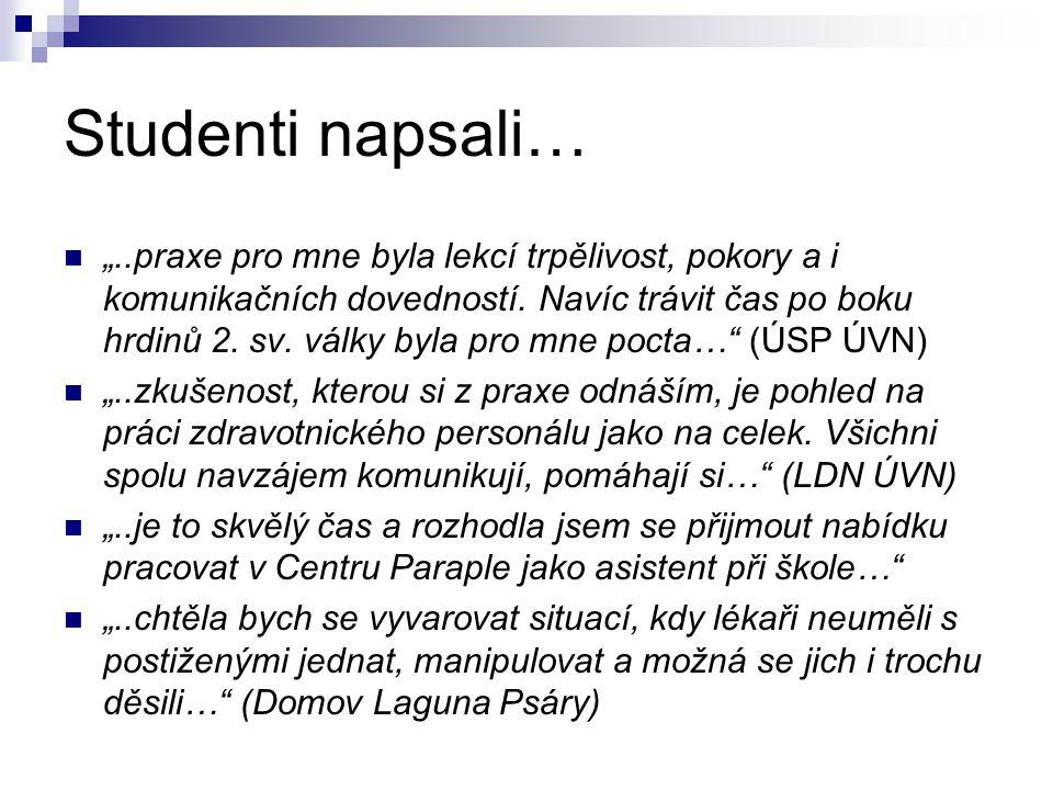 Studenti napsali…