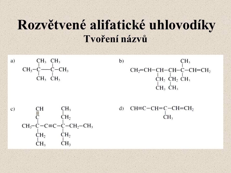 Rozvětvené alifatické uhlovodíky