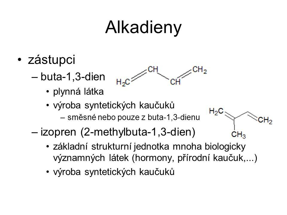 Alkadieny zástupci buta-1,3-dien izopren (2-methylbuta-1,3-dien)