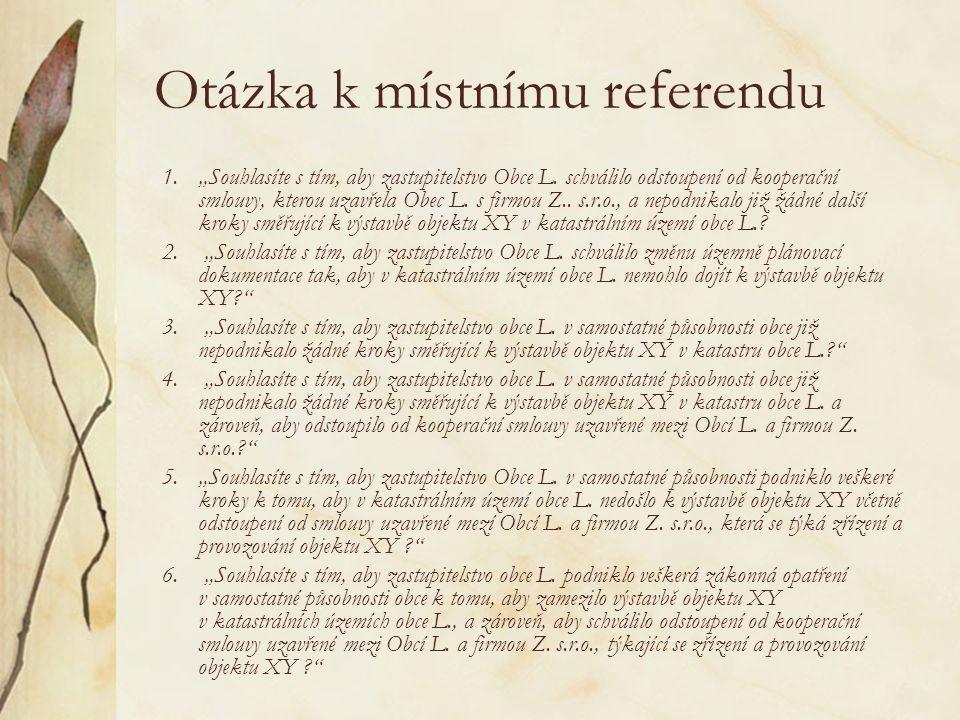 Otázka k místnímu referendu