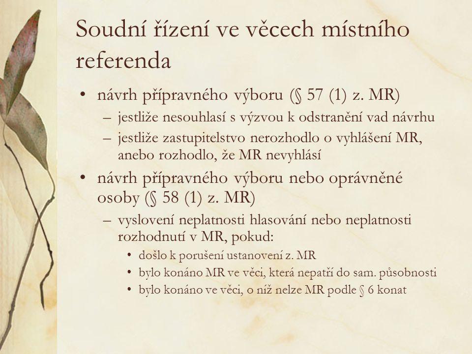 Soudní řízení ve věcech místního referenda