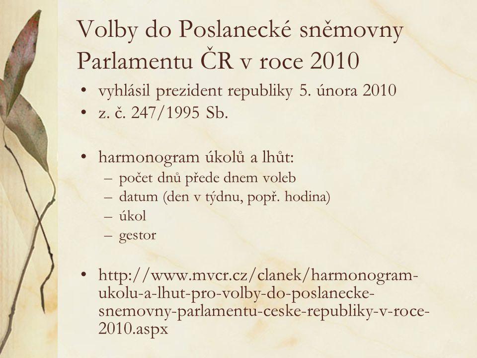 Volby do Poslanecké sněmovny Parlamentu ČR v roce 2010