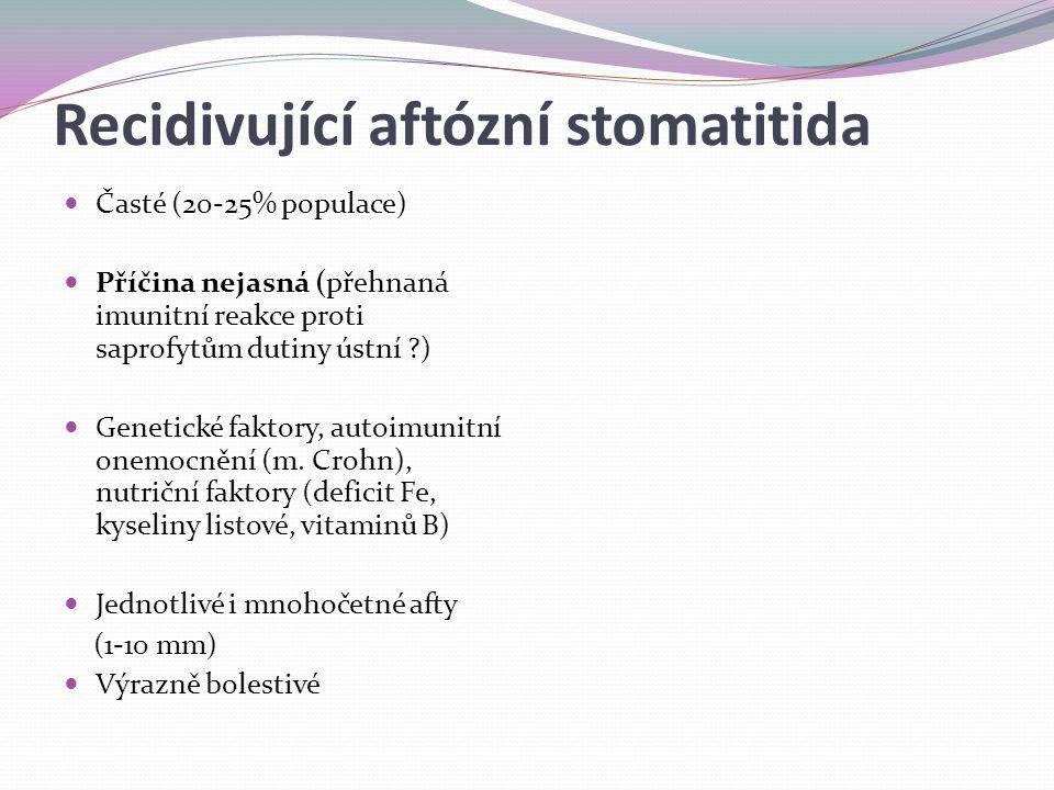 Recidivující aftózní stomatitida