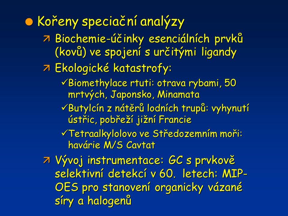 Kořeny speciační analýzy