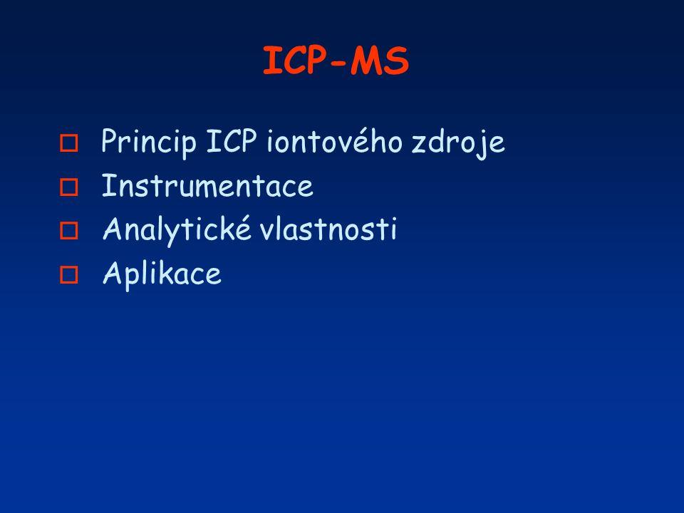 ICP-MS Princip ICP iontového zdroje Instrumentace