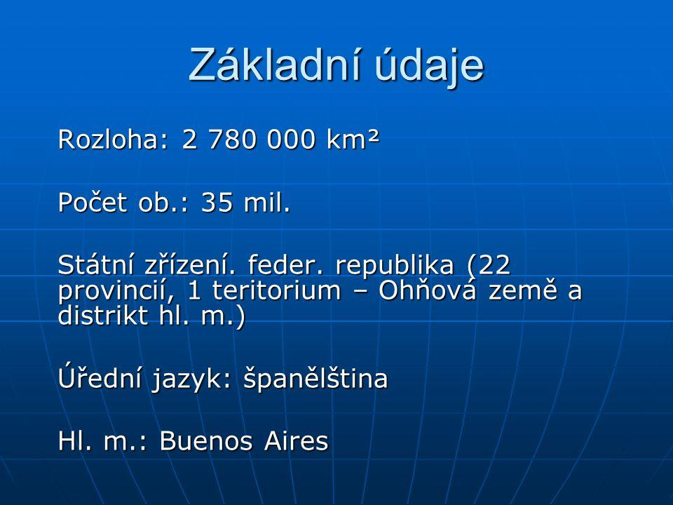 Základní údaje Rozloha: 2 780 000 km² Počet ob.: 35 mil.