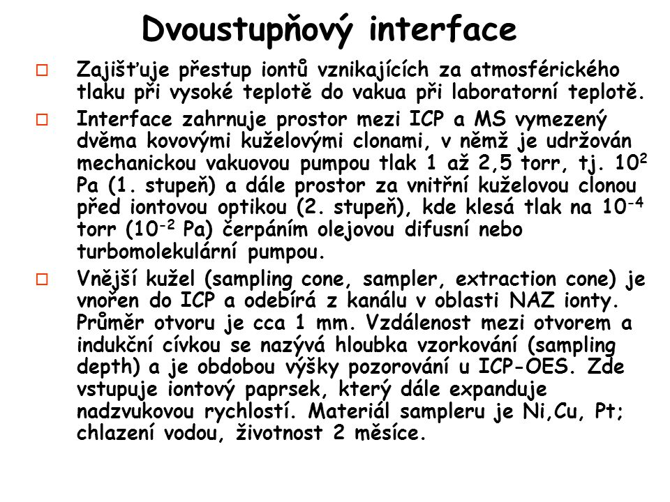 Dvoustupňový interface