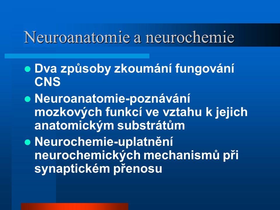Neuroanatomie a neurochemie
