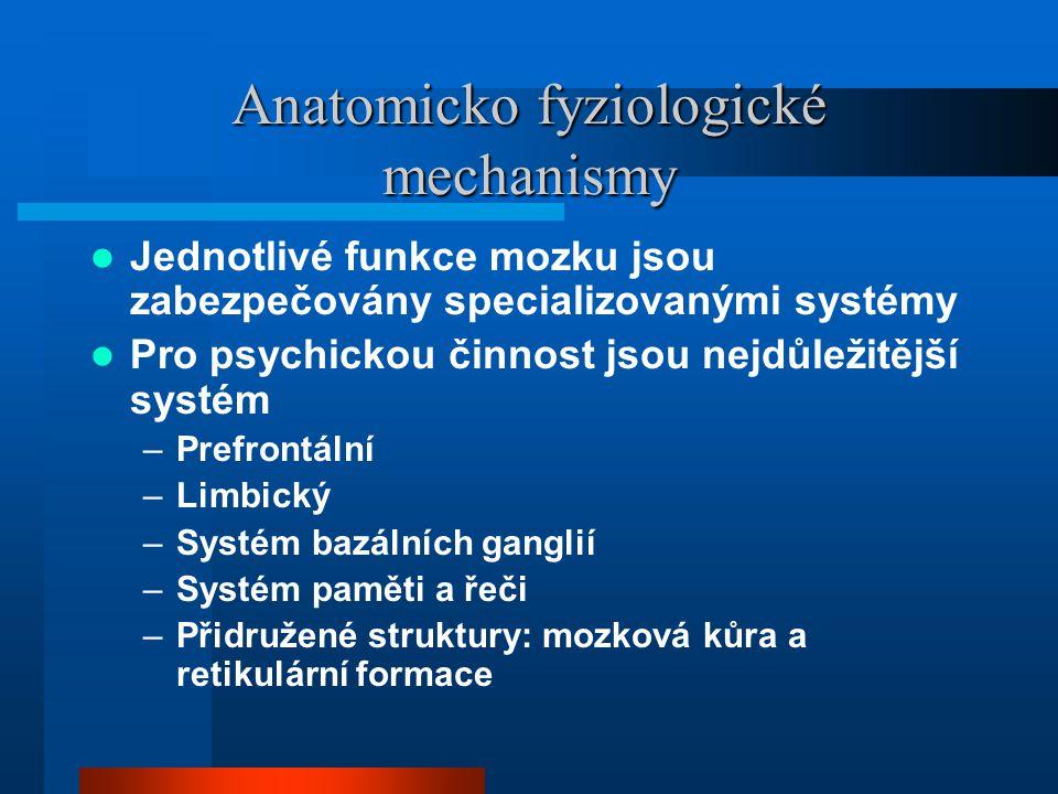 Anatomicko fyziologické mechanismy