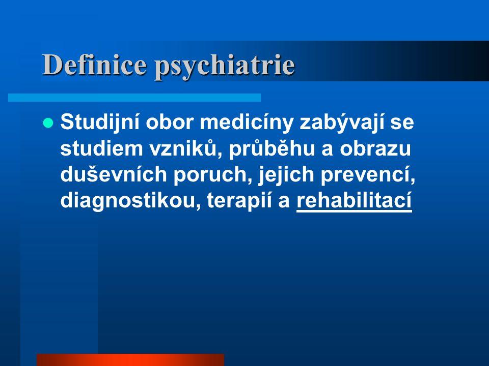Definice psychiatrie