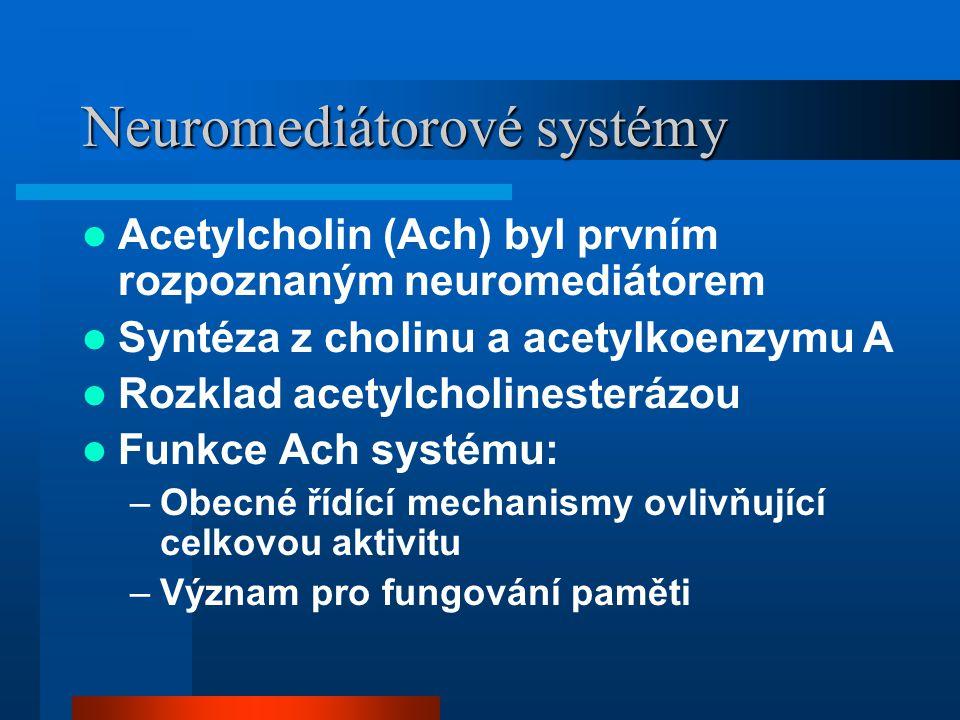 Neuromediátorové systémy