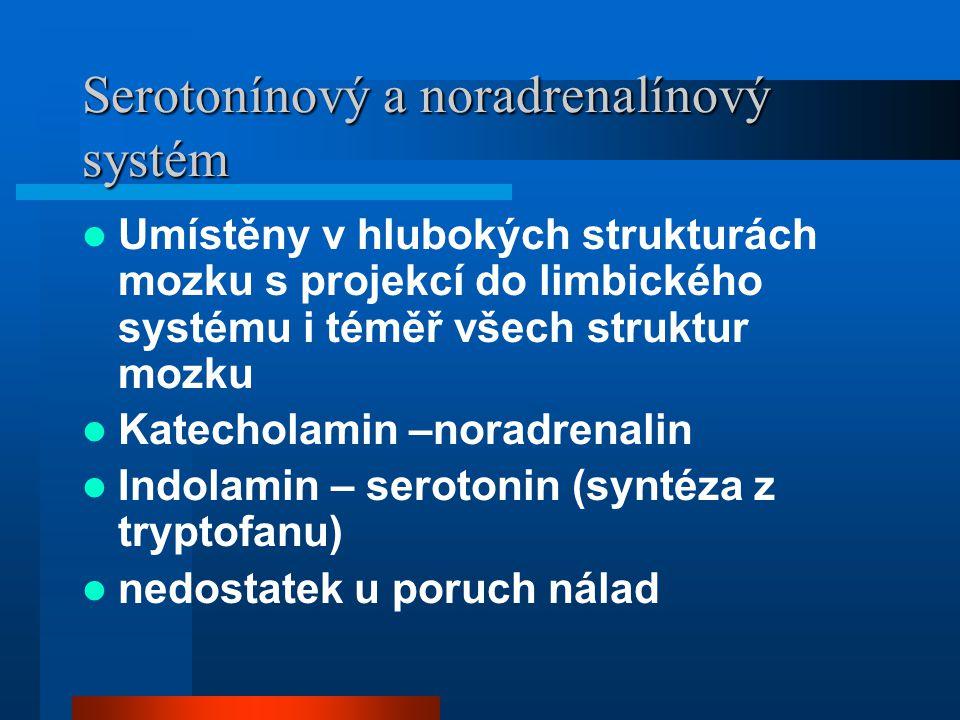 Serotonínový a noradrenalínový systém