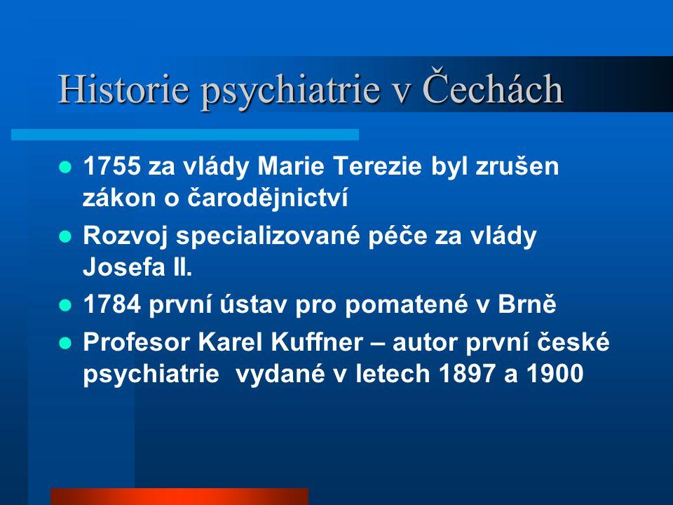 Historie psychiatrie v Čechách