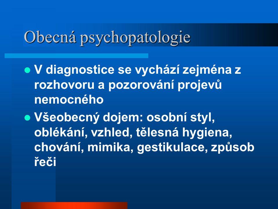 Obecná psychopatologie