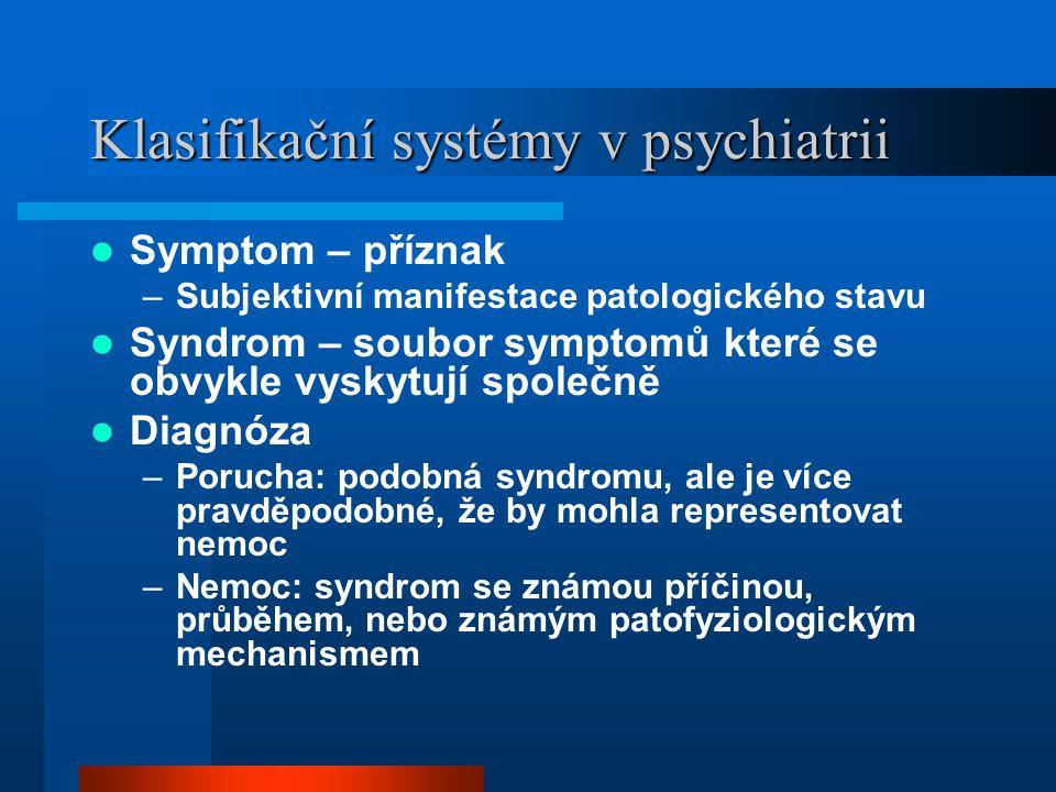Klasifikační systémy v psychiatrii