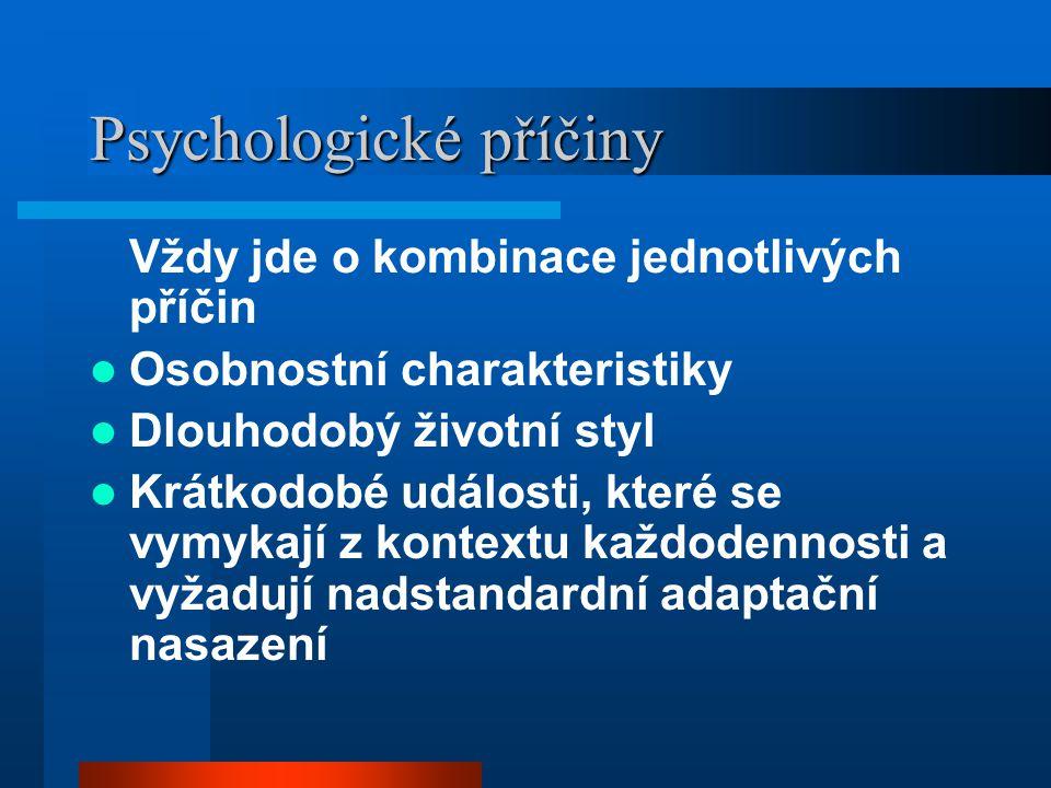 Psychologické příčiny