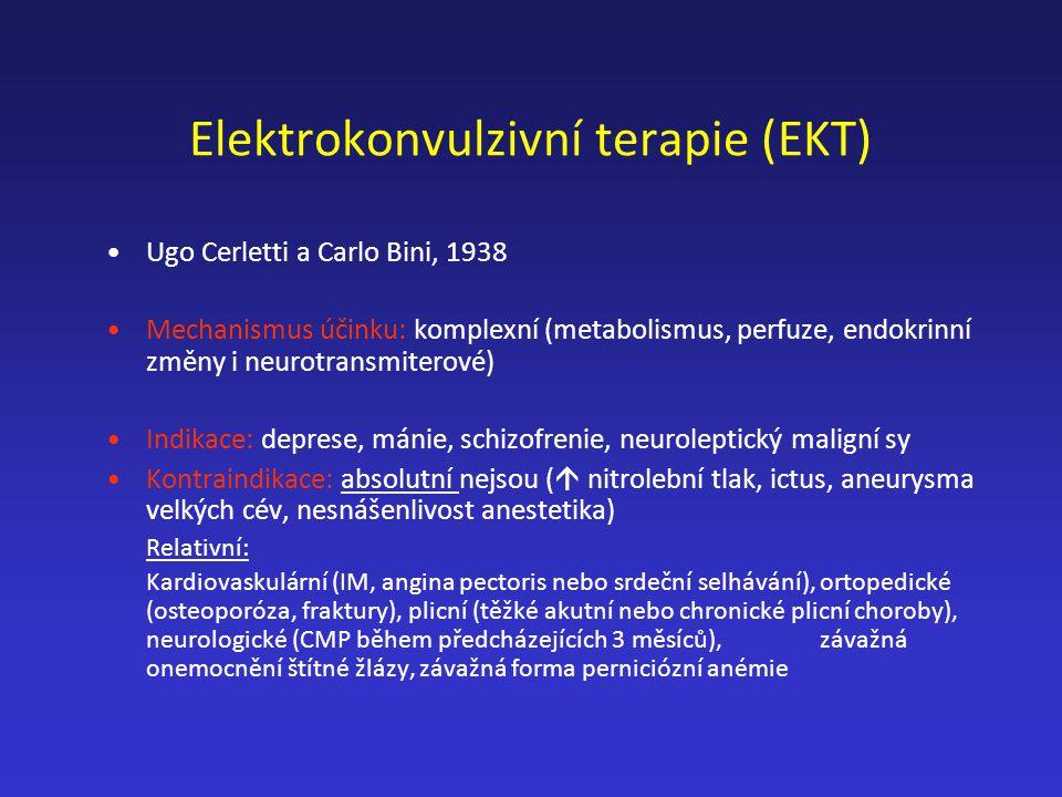 Elektrokonvulzivní terapie (EKT)