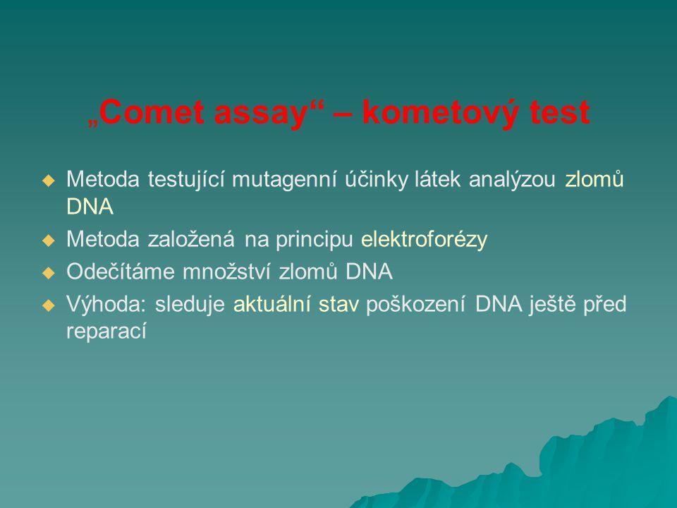"""Comet assay – kometový test"